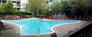 The outside pool at the Gates of McLean is a great place to escape the summer heat.
