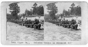 Camp_Alger_Colored_troops_in_skirmish_drill