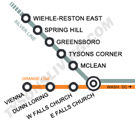 Map of the Silver Line metro